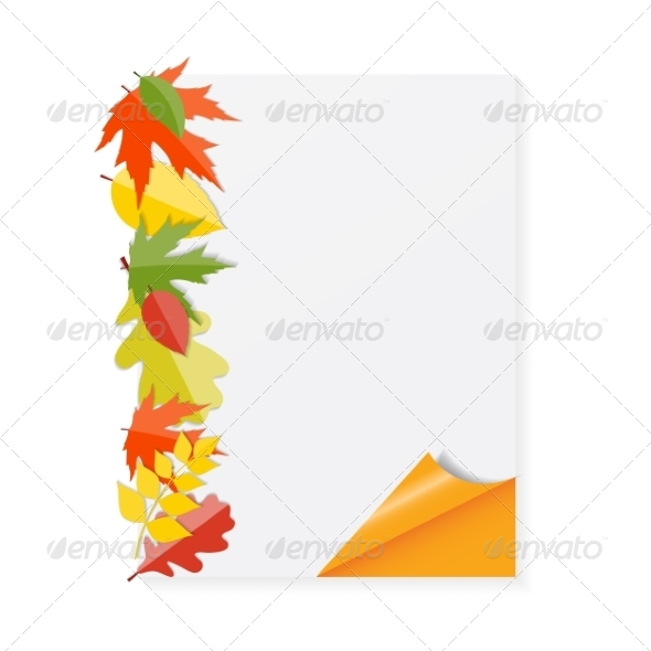 GraphicRiver Shiny Autumn Natural Leaves Background 8526877