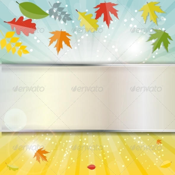 GraphicRiver Shiny Autumn Natural Leaves Background 8526888