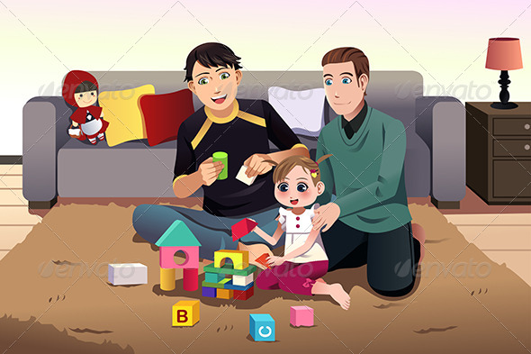 GraphicRiver Parents Playing with their Kids 8526974