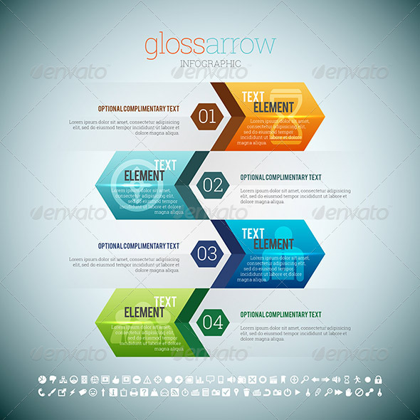 GraphicRiver Gloss Arrow Infographic 8526985