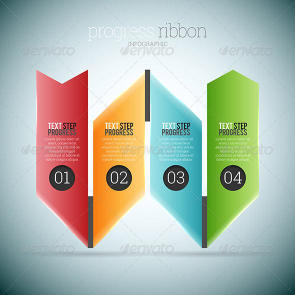 GraphicRiver Progress Ribbon Infographic 8526988