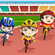 Kids in a Bicycle Race - GraphicRiver Item for Sale