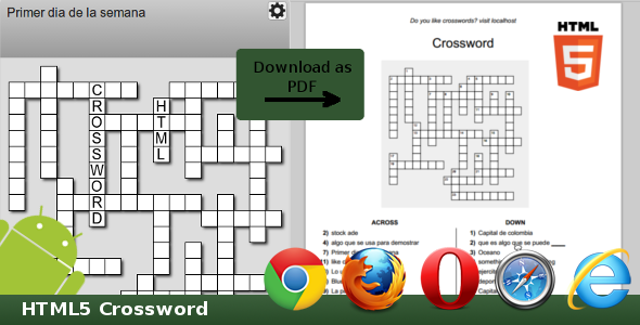 CodeCanyon HTML5 Crossword 8527028