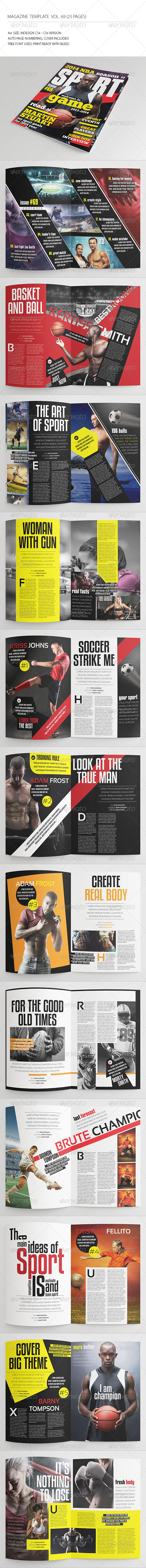 GraphicRiver 25 Pages Sport Magazine Vol69 8521156