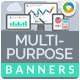 Multi Purpose Banner Ad Set - GraphicRiver Item for Sale