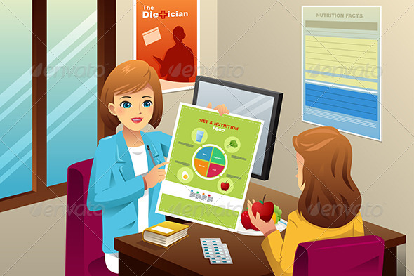 GraphicRiver Nutritionist Explaining about Diet 8527306