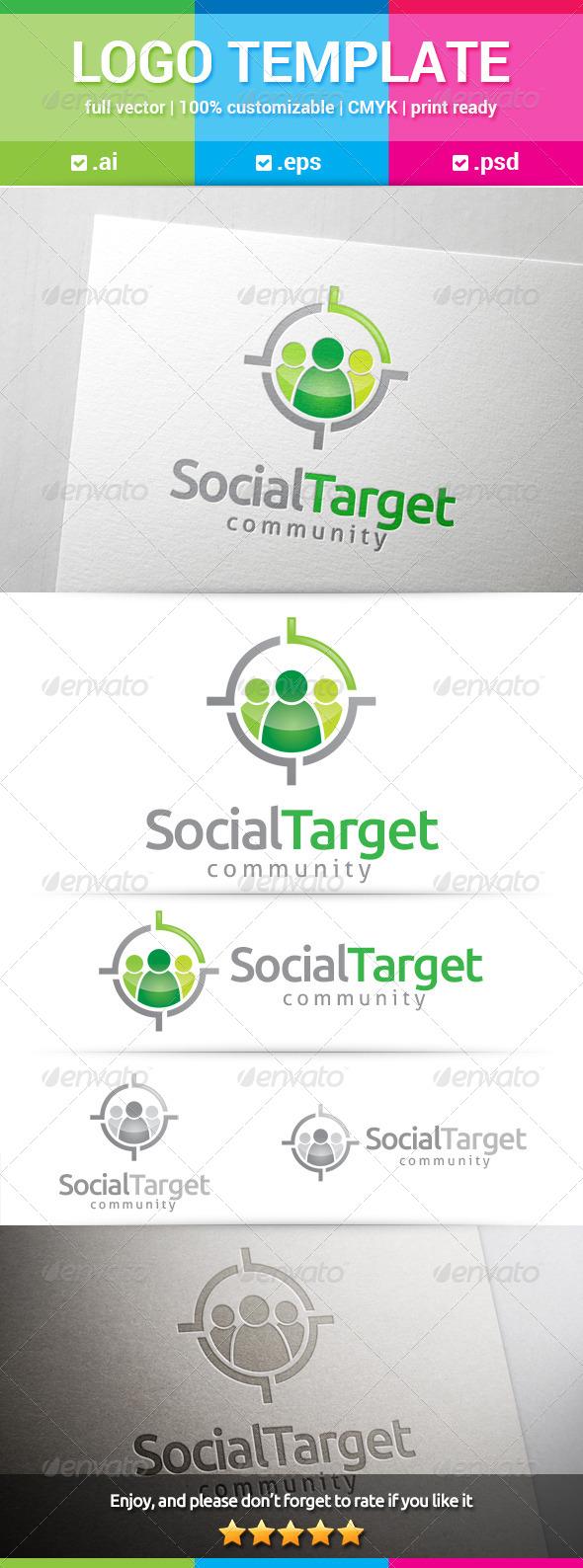 GraphicRiver Social Target Logo 8528115