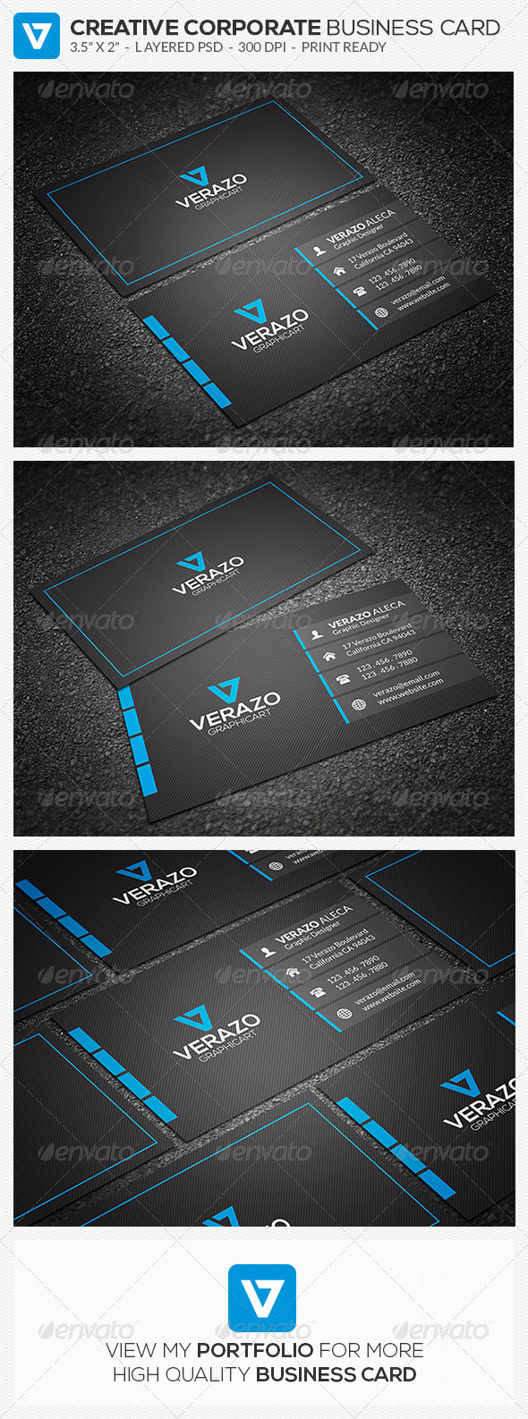 Blue Modern Business Card 54