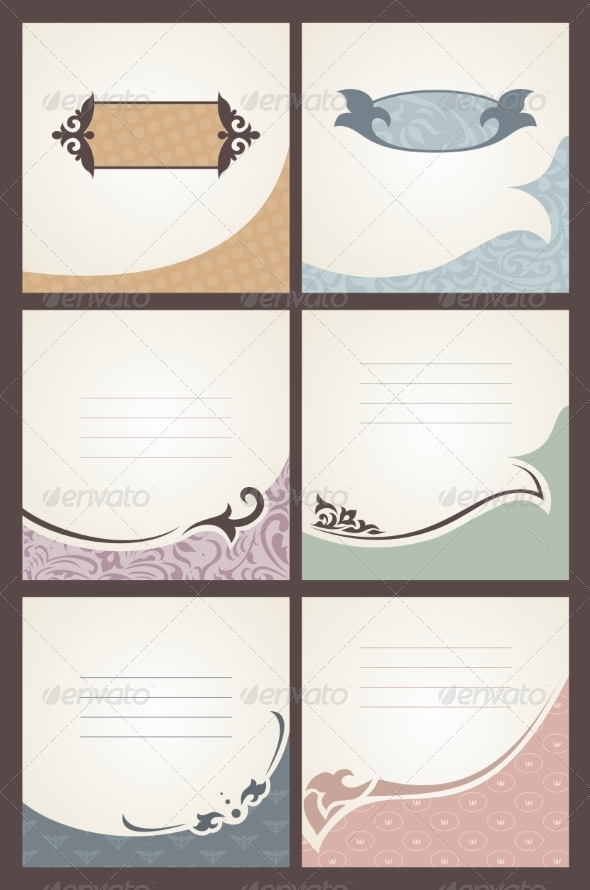 GraphicRiver Vintage Cards Set 8529364