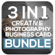 3 in 1 Creative Photogrphy Business Card Bundle - GraphicRiver Item for Sale