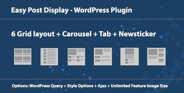 Easy Post Display - WordPress Plugin - CodeCanyon Item for Sale