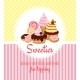 Greeting Card Template with Sweets and Candy - GraphicRiver Item for Sale