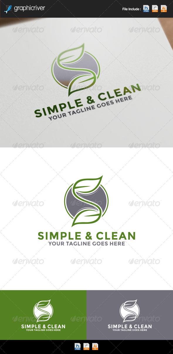 GraphicRiver Letter S Leaf Green Logo 8529929