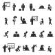 Set of School Children Silhouette Icons - GraphicRiver Item for Sale