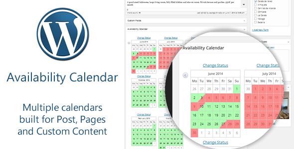 Availability Calendar and Pricing Table Plugin The all-in-one Availability Calendar and Pricing Table Plugin is the solution to many WordPress real estate and h