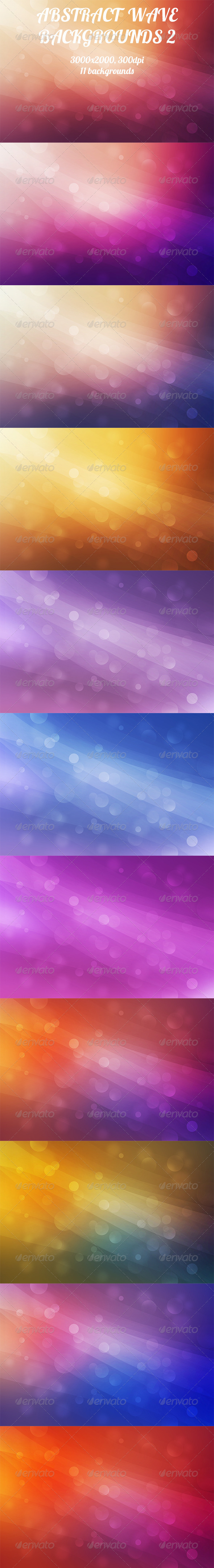 GraphicRiver Abstract Wave Backgrounds 2 8529967
