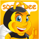 Bee Social Mascot - GraphicRiver Item for Sale