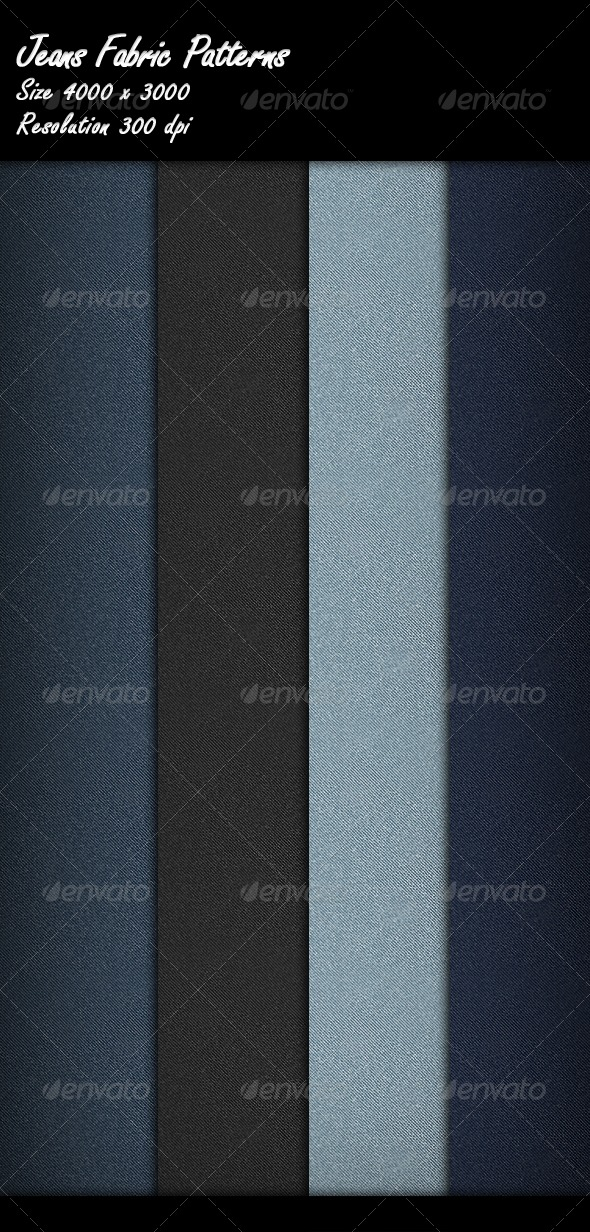 GraphicRiver Jeans Fabric Patterns 8530167