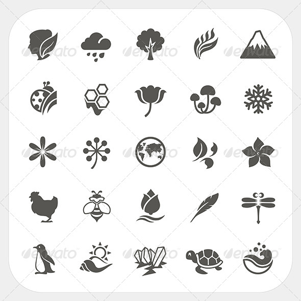 GraphicRiver Nature Icons Set 8530196