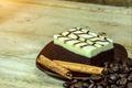 Close up of cinnamon chocolate brownie. - PhotoDune Item for Sale