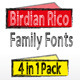 Birdian Rico Family Pack - GraphicRiver Item for Sale