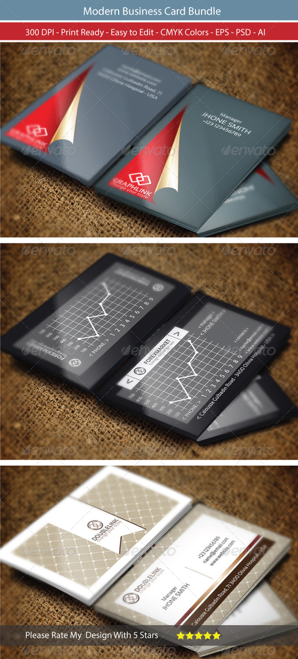 GraphicRiver Modern Business Card Bundle 8530508