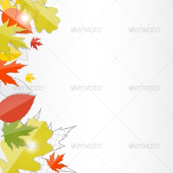 GraphicRiver Shiny Autumn Natural Leaves Background 8530939