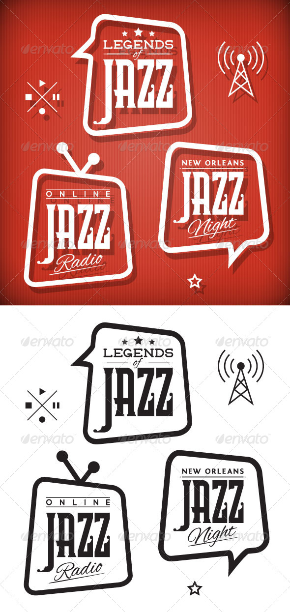 GraphicRiver Jazz Labels 8530943