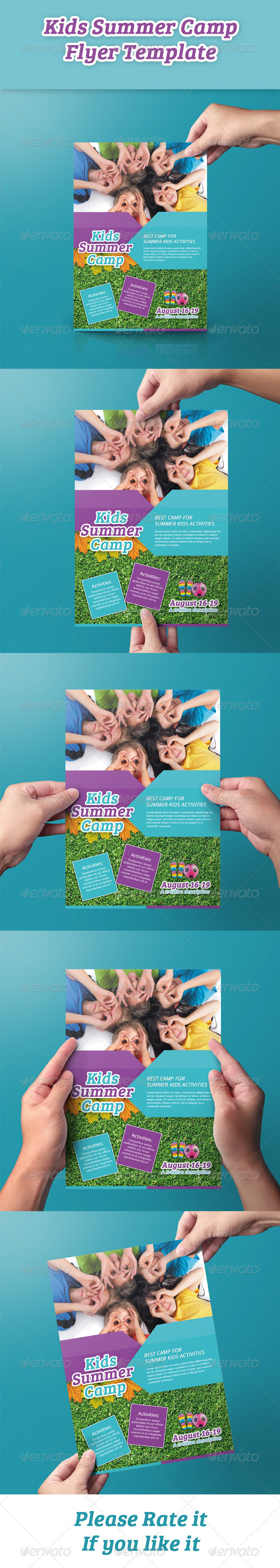 GraphicRiver Kids Summer Camp Flyer 8531346