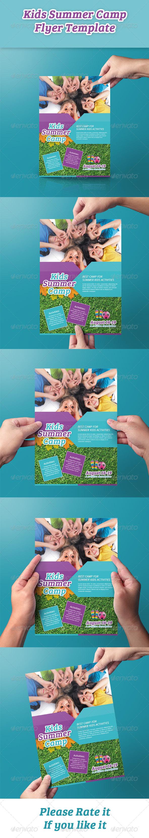GraphicRiver Kids Summer Camp Flyer 8531346