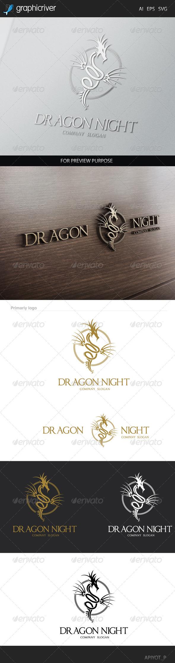 GraphicRiver Dragon Night Logo 8531347