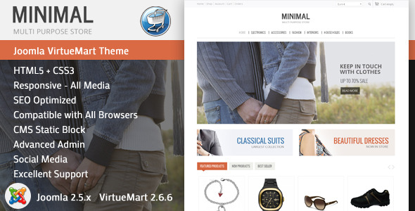 Minimal - Responsive VirtueMart Theme