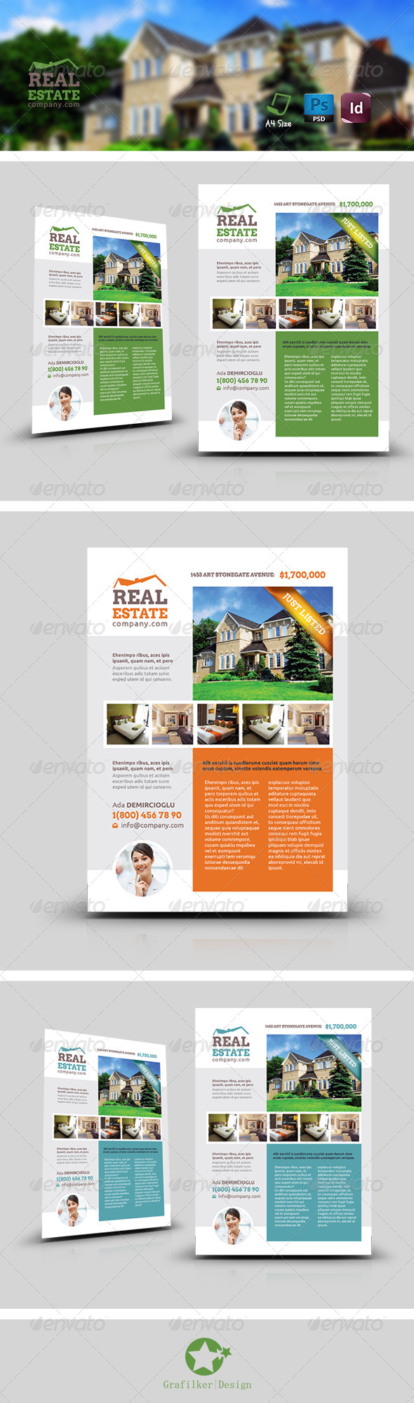 GraphicRiver Real Estate Flyer Templates 8531374