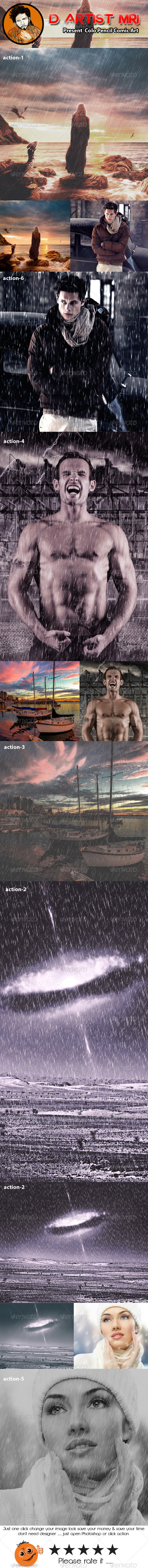 GraphicRiver Rain Photoshop Action 8531619