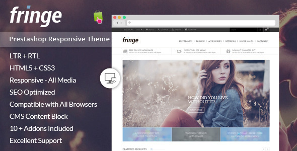 Fringe - Prestashop Responsive Theme - Shopping PrestaShop