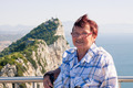 Senior woman tourist at the Rock of Gibraltar - PhotoDune Item for Sale