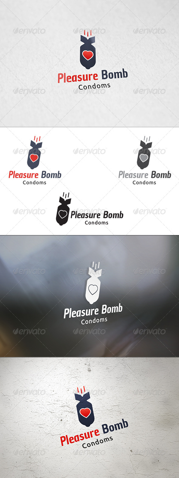 GraphicRiver Pleasure Bomb Logo Template 8531781