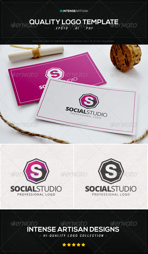 GraphicRiver Social Studio Logo Template 8531961