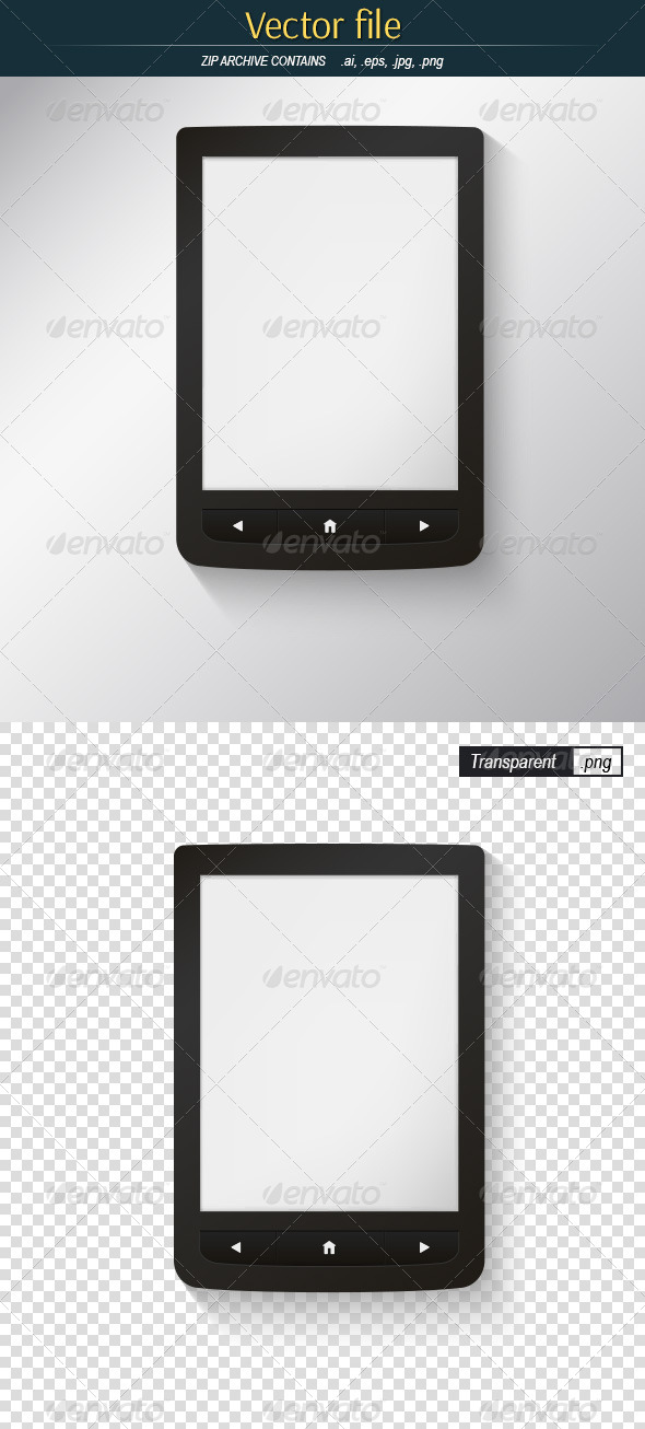 GraphicRiver eBook Reader Close-up 8531988