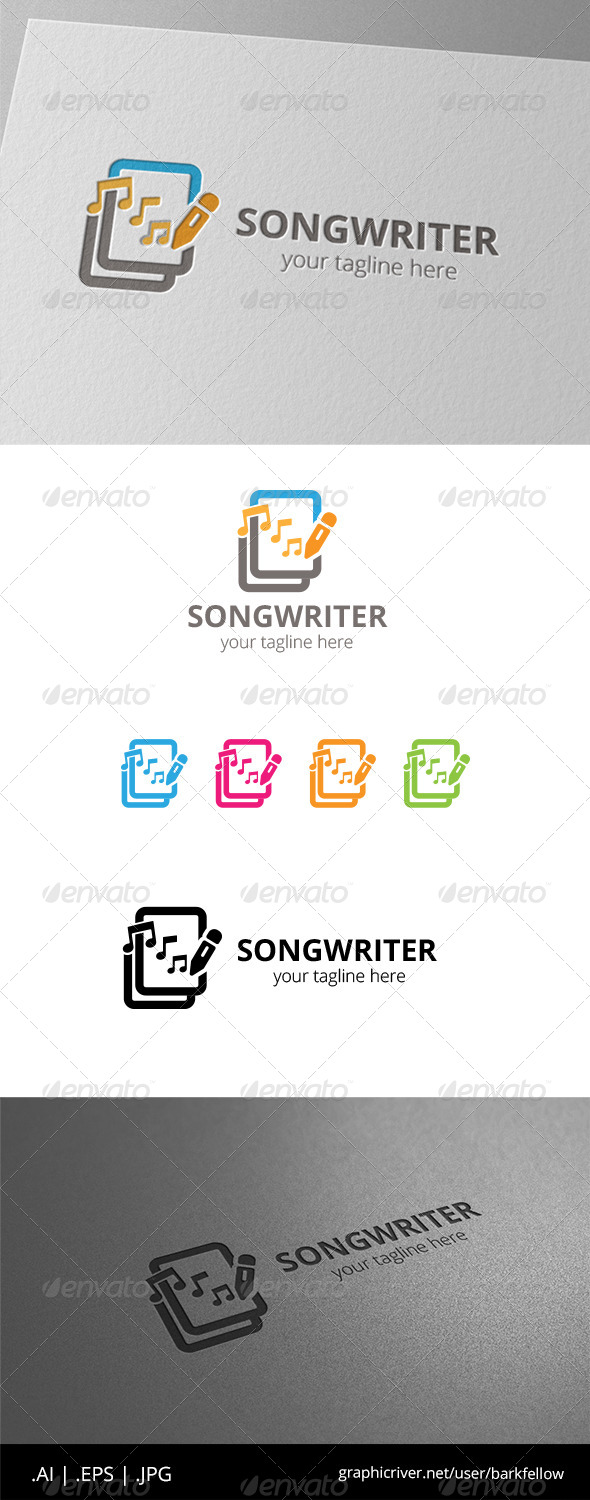 GraphicRiver Songwriter Document Music Logo 8531990