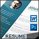 Minimal Design Resume - GraphicRiver Item for Sale