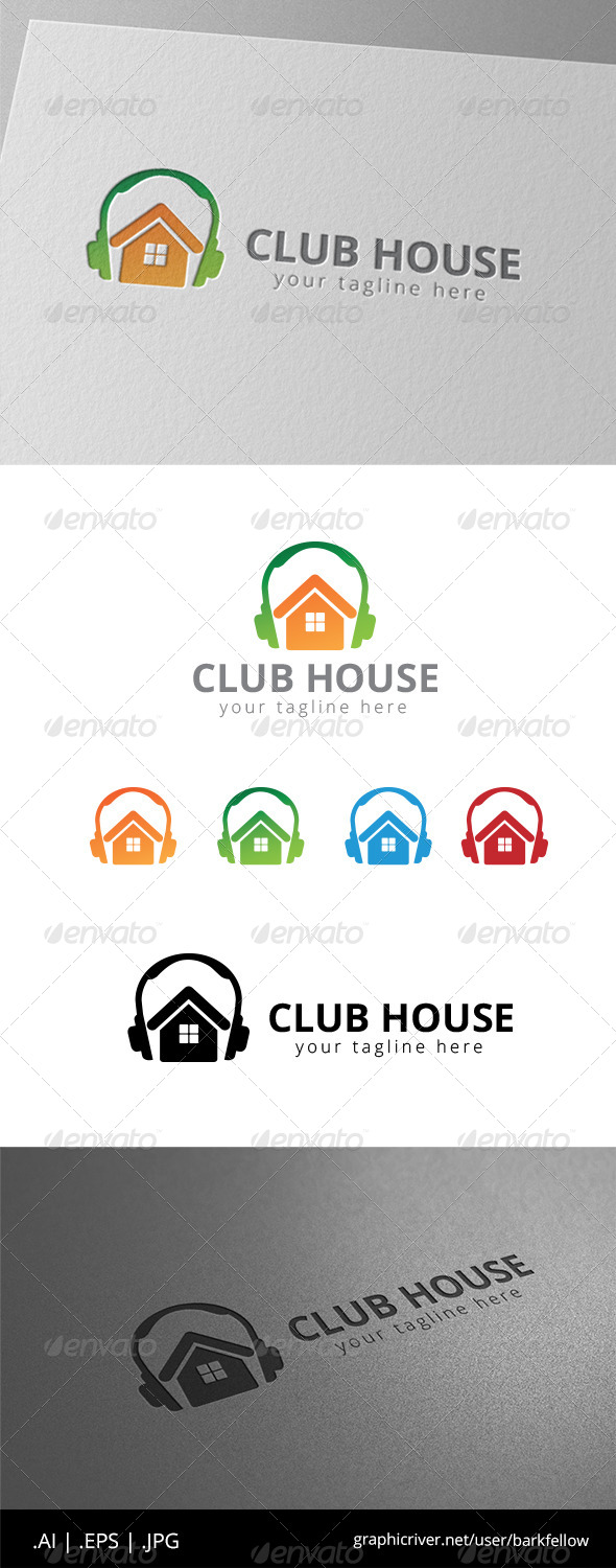 GraphicRiver Night Club House Music Logo 8532042