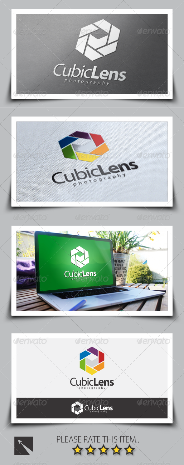 GraphicRiver Cubic Lens Photography Logo Template 8532495