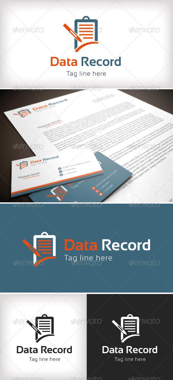 GraphicRiver Data Record Logo Template 8532613