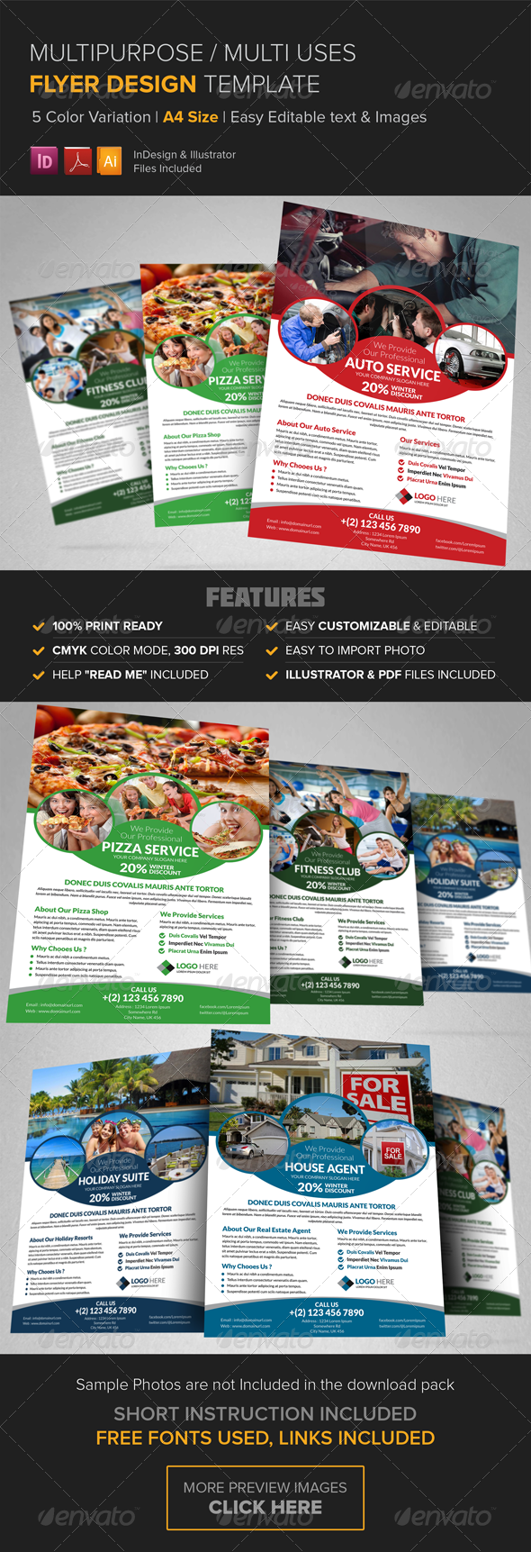 GraphicRiver Multipurpose Business Flyer Design Template 8532715