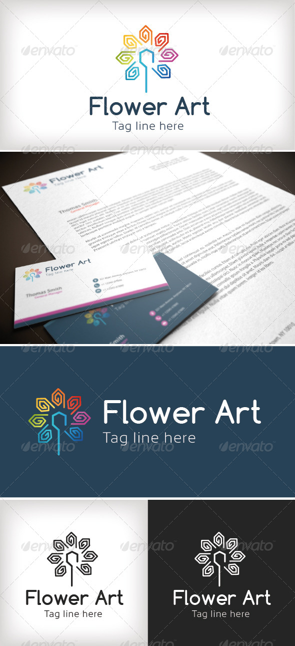 GraphicRiver Flower Art Logo Template 8532924