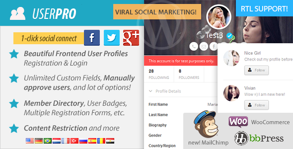 UserPro - User Profiles with Social Login