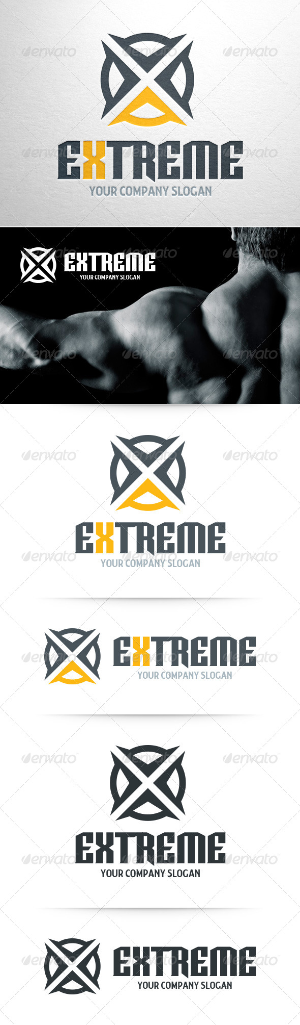 GraphicRiver Extreme Letter X Logo 8533292