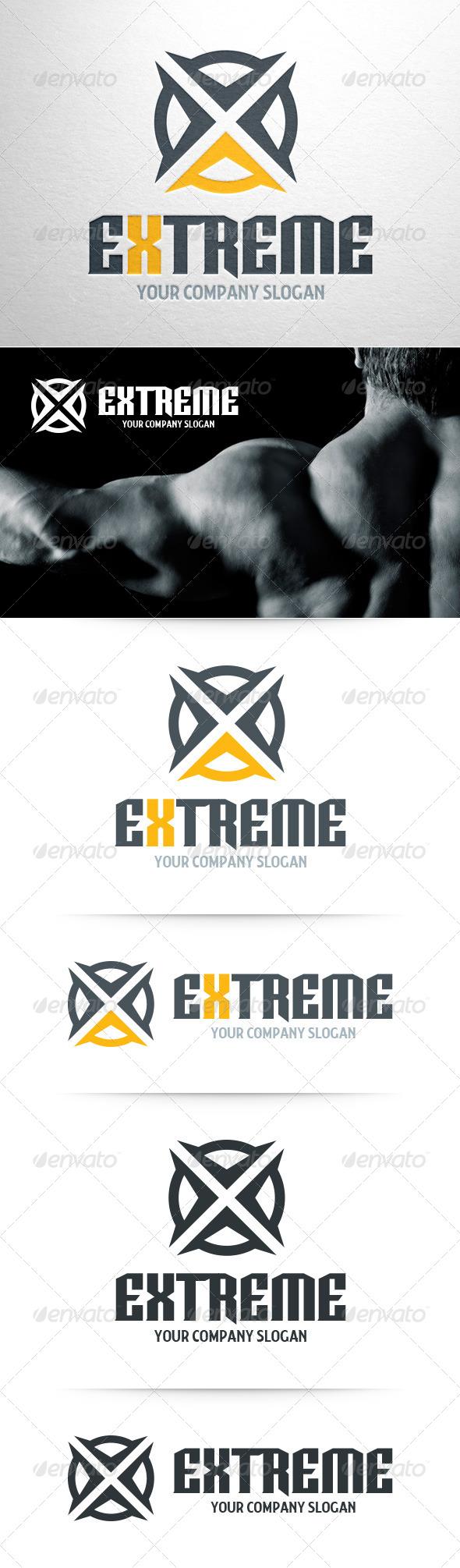 Extreme Letter X Logo