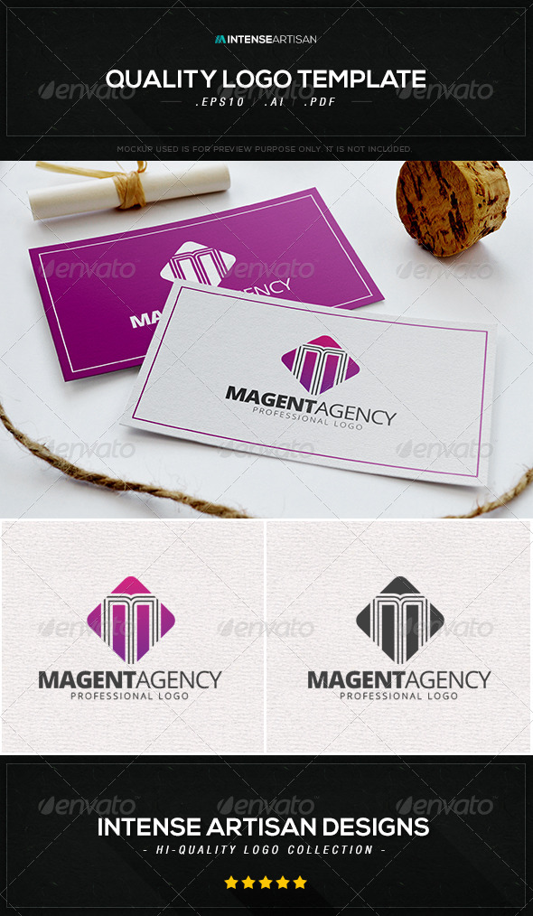 GraphicRiver Magenta Agency Logo Template 8533318
